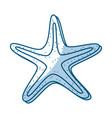shadow starfish cartoon vector image