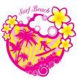 vector surf beach illustration vector image
