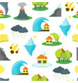 cartoon natural disaster background pattern vector image