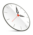 Abstract Clock Isolated on White vector image vector image