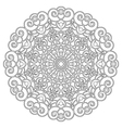 adult coloring book spiral mandala black and white vector image vector image