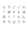 agronomy line icons signs set outline vector image vector image