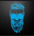 angry skull with hairstyle vector image vector image
