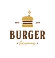 burger company vintage logo design inspiration vector image vector image