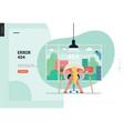 business series - error 404 web template vector image vector image