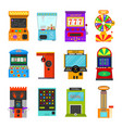 cartoon color game machine icon set vector image vector image