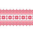 christmas long seamless winter pattern vector image vector image