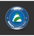 christmas tree badge vector image vector image