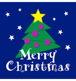Christmas wishes - green tree with yellow star vector image vector image