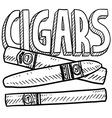 Cigars vector image vector image