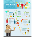cocktail recipes poster vector image