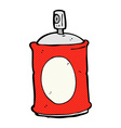 comic cartoon spray can vector image vector image