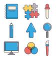 creativity process design vector image