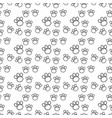 dog or cat paws seamless pattern thin line vector image vector image