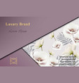 elegant card with flowers decor abstract vector image