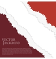 EPS10 file Golden and red tear paper vector image vector image