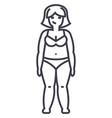 fat womandiet line icon sign vector image vector image