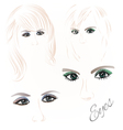 Females eyes green and blue vector image vector image