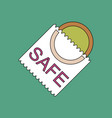 flat icon design collection safe condom vector image vector image