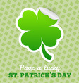 Four-leaf clover sticker vector image vector image