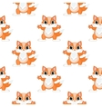 Fox seamless pattern vector image vector image