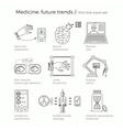 future medicine trends vector image vector image