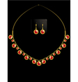 gold coin necklace set 2 vector image vector image