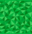 green crumpled paper with geometric seamless vector image vector image