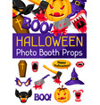halloween photo booth props accessories vector image vector image