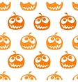 Halloween pumpkin seamless background vector image vector image