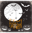 halloween scary scene card vector image vector image