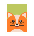happy fox colorful banner vector image vector image