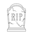 Headstone icon in outline style isolated on white vector image vector image