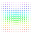 Hierarchy icon halftone spectral pattern