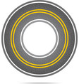 Highway in a circle with asphalt texture vector image vector image