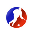 hockey player dribbling attack forward design vector image vector image