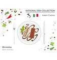 italian cuisine european national dish collection vector image vector image