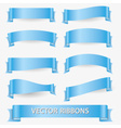 light blue various curved empty ribbon banners vector image vector image