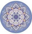 lilac-blue mandala vector image vector image