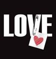 love t-shirt fashion print vector image vector image