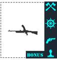 machine gun icon flat vector image