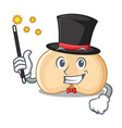 magician chickpeas mascot cartoon style vector image vector image