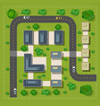 Map of a top view from the rooftops vector image vector image