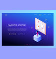 marketing strategy - modern isometric web vector image