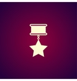 medal icon Flat design style vector image