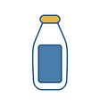 milk bottle icon vector image vector image