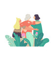 mothers day concept loving young and senior vector image