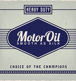 Motor oil label vector | Price: 1 Credit (USD $1)