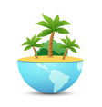 nature landscape of tropical island vector image vector image