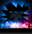 neon leaves vector image
